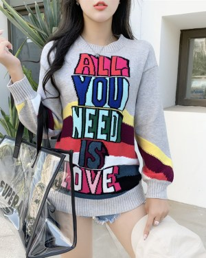 Nayeon All You Need Is Love Striped Sweater (13)