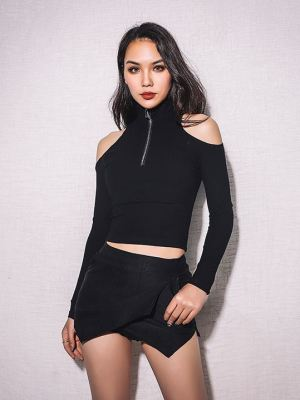 Short Sweater with Cut-Out Shoulders (1)