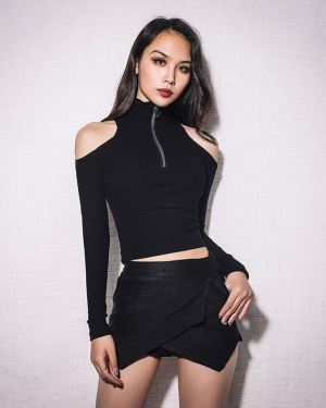 Short Sweater with Cut-Out Shoulders