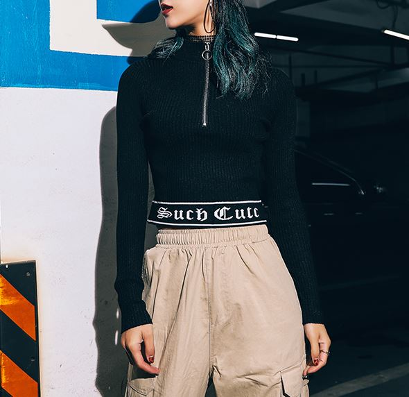 """""""Such Cute"""" Short Zipper Shirt"""