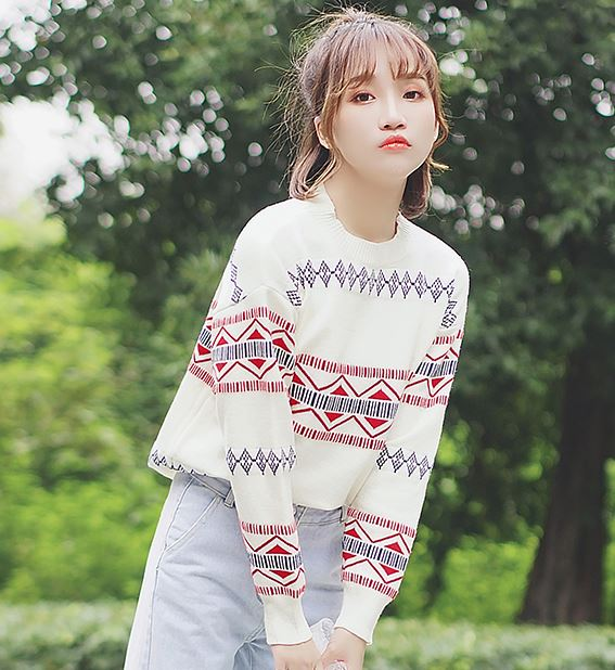 Sweater with Triangle Pattern