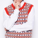Circle Patterns Striped Knitted Vest | Taehyung – BTS