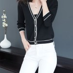 Black Outlined White Buttoned Cardigan | Wendy – Red Velvet