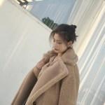 Brown Teddy Bear Coat | Hyuna