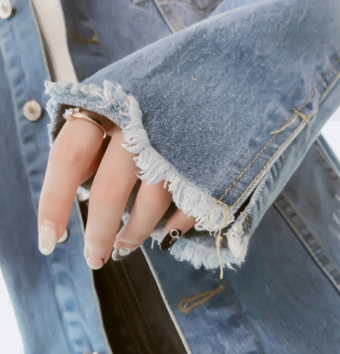 Ragged Edges Denim Jacket | IU