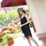Tassels Black Cami Sleeveless Dress | Joy – Red Velvet
