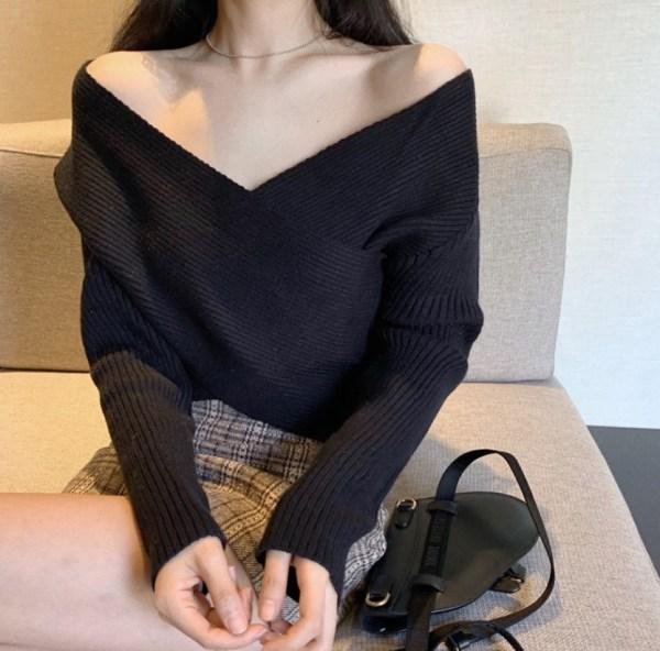 Crossed Body Sweater | Lia – ITZY