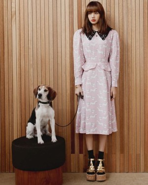 Horse Print Pattern Pink Dress | Lisa – BlackPink