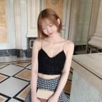 Tweed Strap Black Crop Top | Yeri – Red Velvet