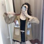 Earthy Multi Patched Coat | Felix – Stray Kids