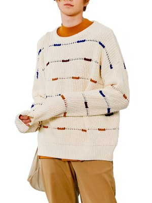Felix Intermittent Lines Round Neck Sweater 2