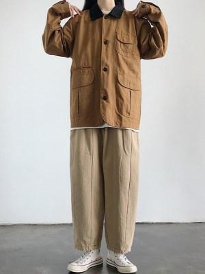 Hyunjin Black Collar Brown Tooling Jacket (10)