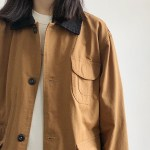 Black Collar Brown Tooling Jacket | Hyunjin – Stray Kids