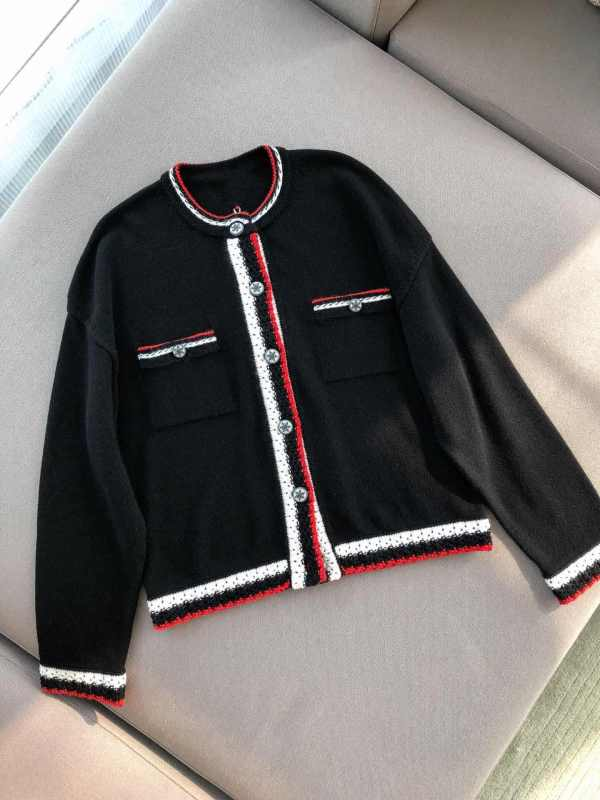 Red and White Strips Classic Knitted Cardigan | J-Hope – BTS