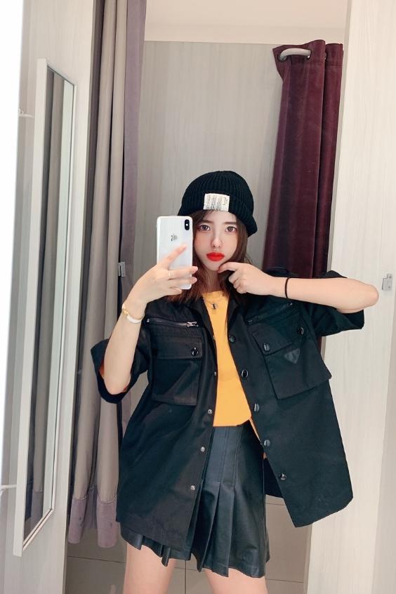 Black Nylon Cargo Style Shirt | Jaehyun – NCT