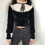 Ruffled Collar Vintage Blouse | Jennie – BlackPink