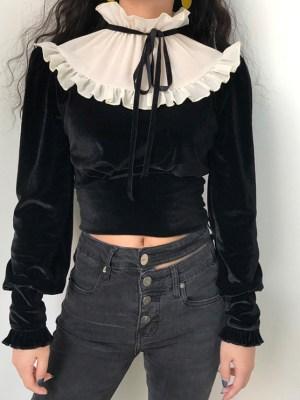 Jennie Ruffled Collar Vintage Blouse (1)
