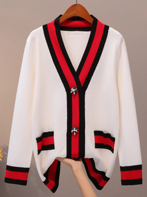 Jeongyeon Mid Length Loose Cardigan 3