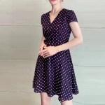 Polka Dots V-neck Dress | Jihyo – Twice