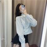 Retro Style High Waist Bandage Shirt   Jihyo – Twice