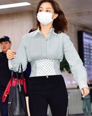 Retro Style High Waist Bandage Shirt | Jihyo – Twice