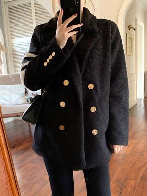 Jin Mid-length Loose Woolen Coat 6