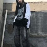 Black Cuff Long Sleeve Sweatshirt | Seungmin – Stray Kids