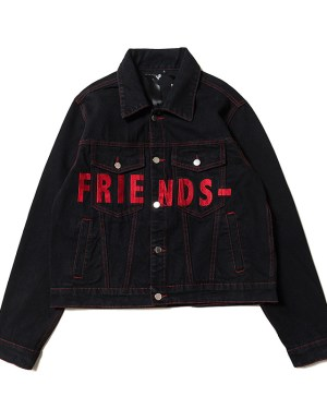 Woojin FRIENDS Dark Denim Jacket 1