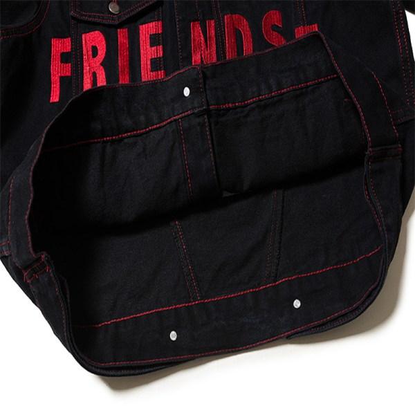 FRIENDS Dark Denim Jacket   Woojin – Stray Kids