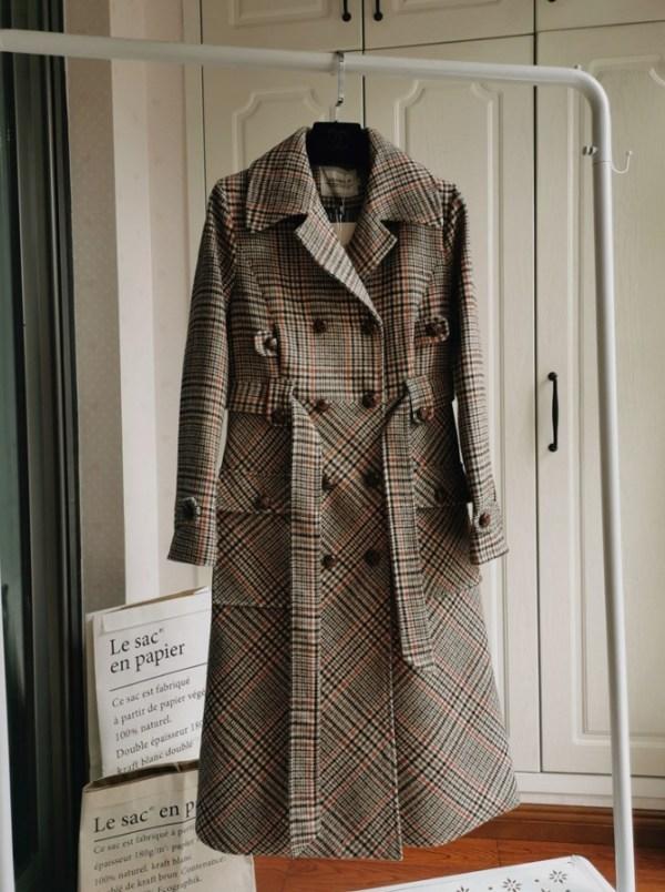 Lattice Patterned Winter Coat | Yoon Se Ri – Crash Landing On You