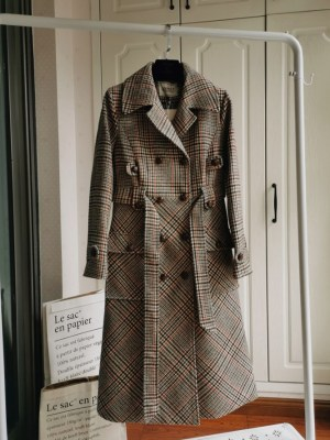 Yoon Se Ri Lattice Patterned Winter Coat (1)