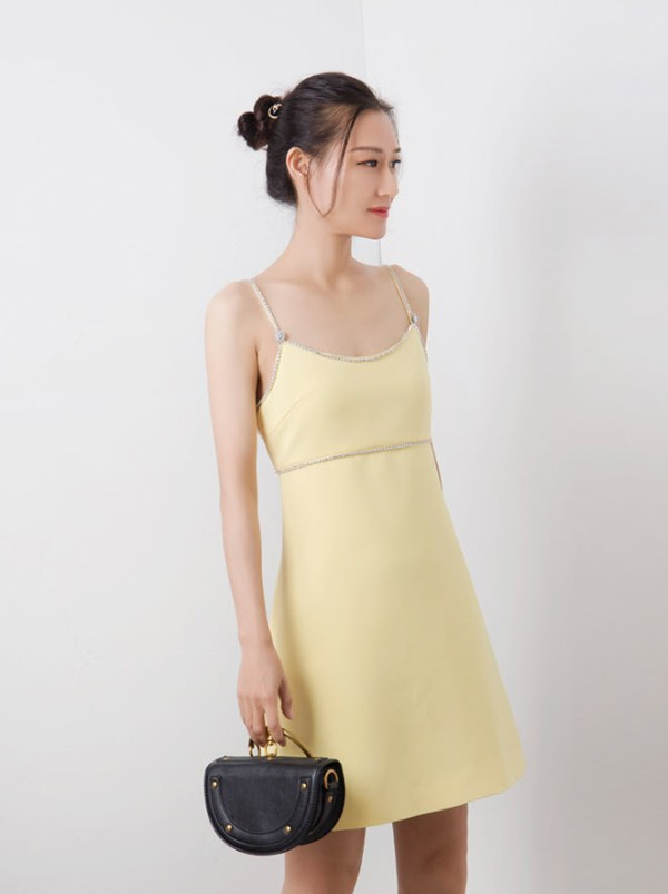 Light Yellow Cami Sleeveless Dress | Yoon Se Ri – Crash Landing On You