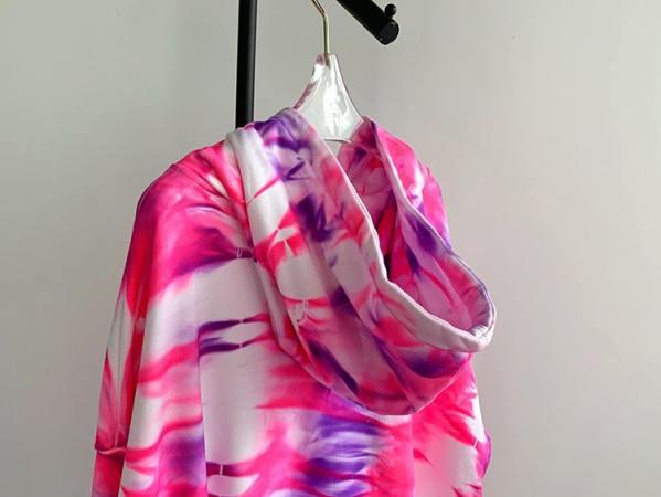 Respect Tie-dye Oversized Hoodie   Chungha