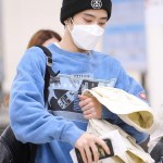 Blue Washed Crew Neck Sweater | Jaehyun – NCT