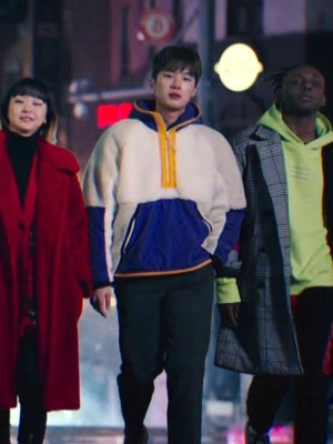 Multicolor Zippered Pockets and Half Zipped Hoodie | Jang Geun Soo – Itaewon Class