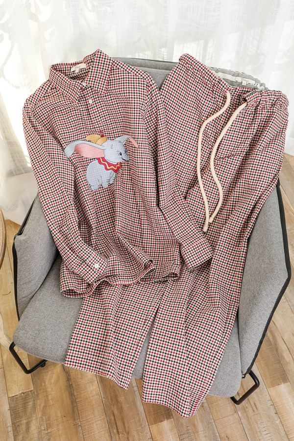 Checkered Pattern with Dumbo Design Shirt | Jin – BTS