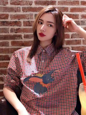 Jin Checkered Pattern with Dumbo Design Shirt 02