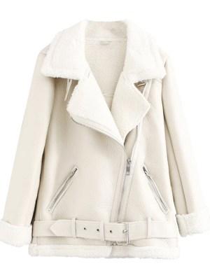Jo Yi Seo Creamy White Lambskin Motorcycle Jacket (2)