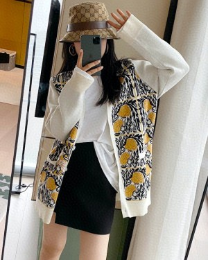 Jo Yi So Yellow Roses Loose Cardigan 9