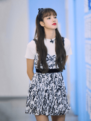 Crossed Bust Leopard Style Mini Dress | Lisa – Blackpink