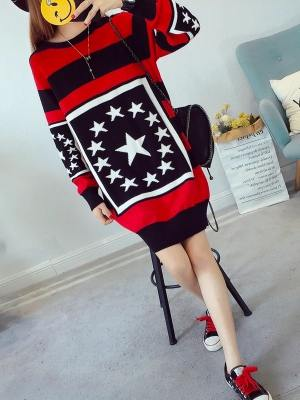 Taeil Star Contrast Knitted Sweater 5