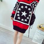 Star Contrast Knitted Sweater | Taeil – NCT