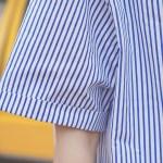 Blue Stripped Split Shirt