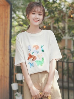 Cute Animal Print Shirt (2)