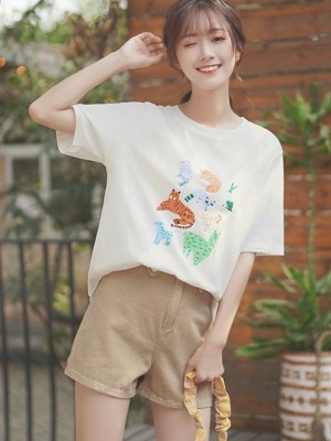 Cute Animal Print T-Shirt
