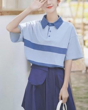 Doll Collar Polo Shirt