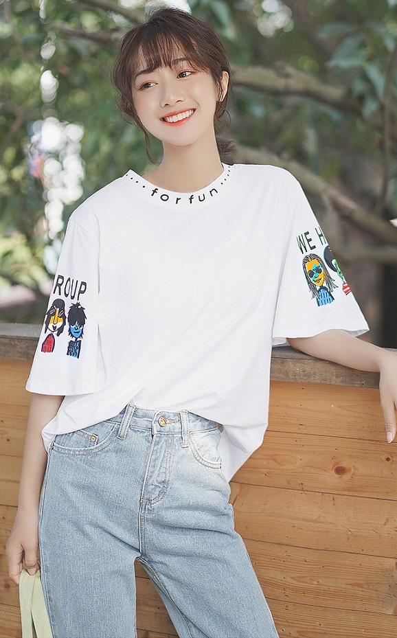 Funny Print Long Sleeved T-shirt