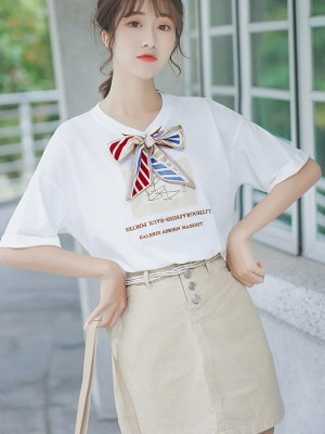 Girly White T-Shirt With Ribbon (8)