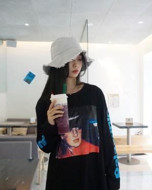 J-hope Diana on a Cap Long Sleeve Sweatshirt 00008