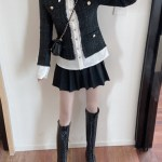 Black Tweed with Gold Buttons Jacket | Jennie – Blackpink